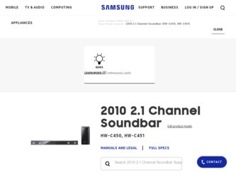 Samsung HW-C451 Driver and Firmware Downloads
