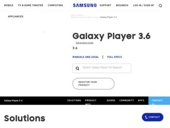 Samsung YP-GS1CB Driver and Firmware Downloads