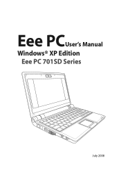 Asus Eee PC 701SD XP Driver and Firmware Downloads