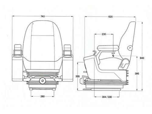 Komatsu seat ISRI 6500KM/577
