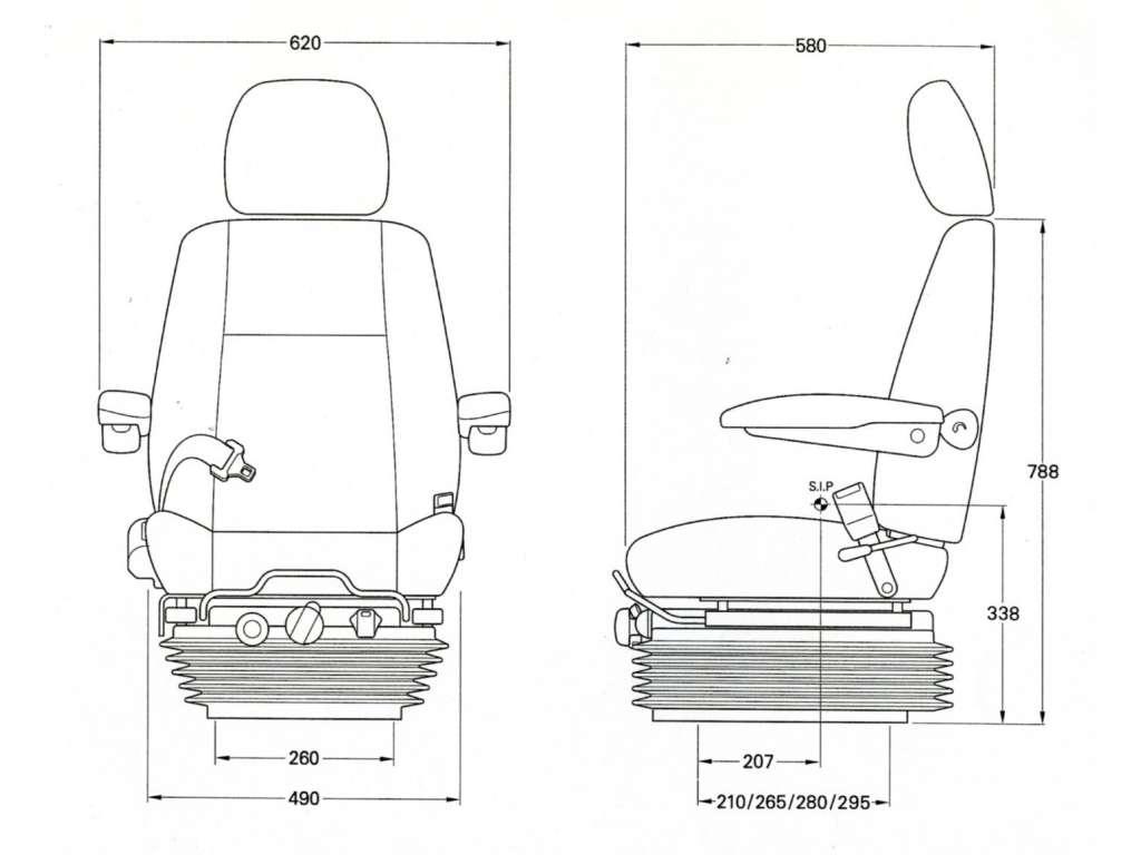 Kab 811 Seat Forklift Terex Matbro Only 399 00 Vat