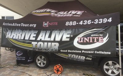 Driver's Alert Meets Arrive Alive Tour at Distracted Driving and Drunk Driving Event