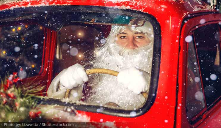 Santa Driving Drowsy