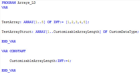 CODESYS Array declaration