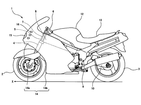 Kawasaki Ninja ZX-14R Could Get Cornering Light System