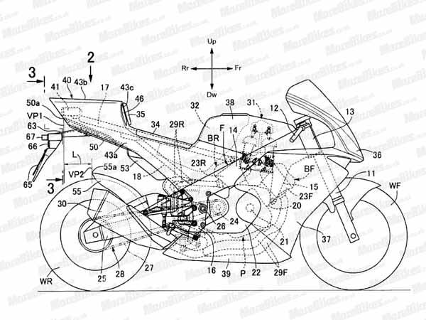 Honda's Official Drawings For V4 Superbike Revealed