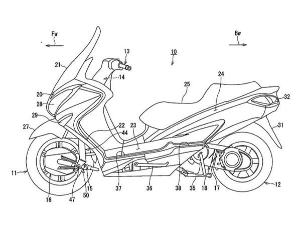 Two-Wheel-Drive Suzuki Burgman Scooter Patents Filed