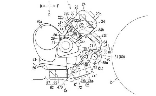 Yamaha Turbocharged Motorcycle Engine Patents Filed