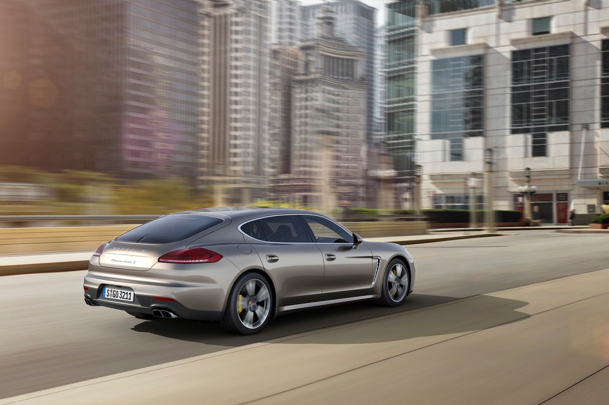 Porsche Panamera Turbo S brons beige Executive 2014 02