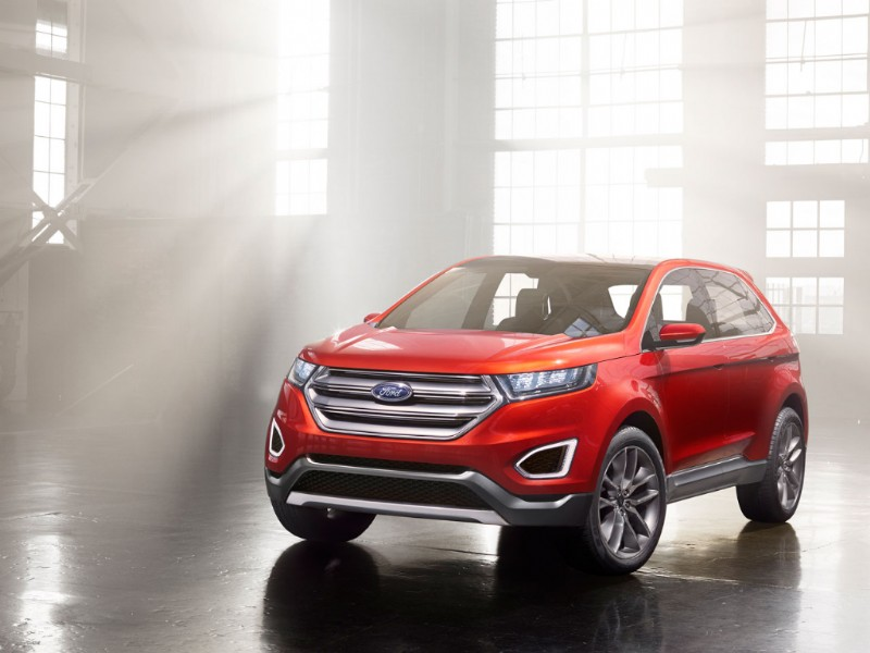 Ford Edge Europa Concept rood 2015 05