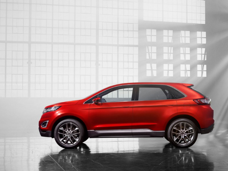 Ford Edge Europa Concept rood 2015 09