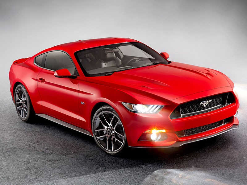 Ford Mustang Europa 2014 2015 rood 10