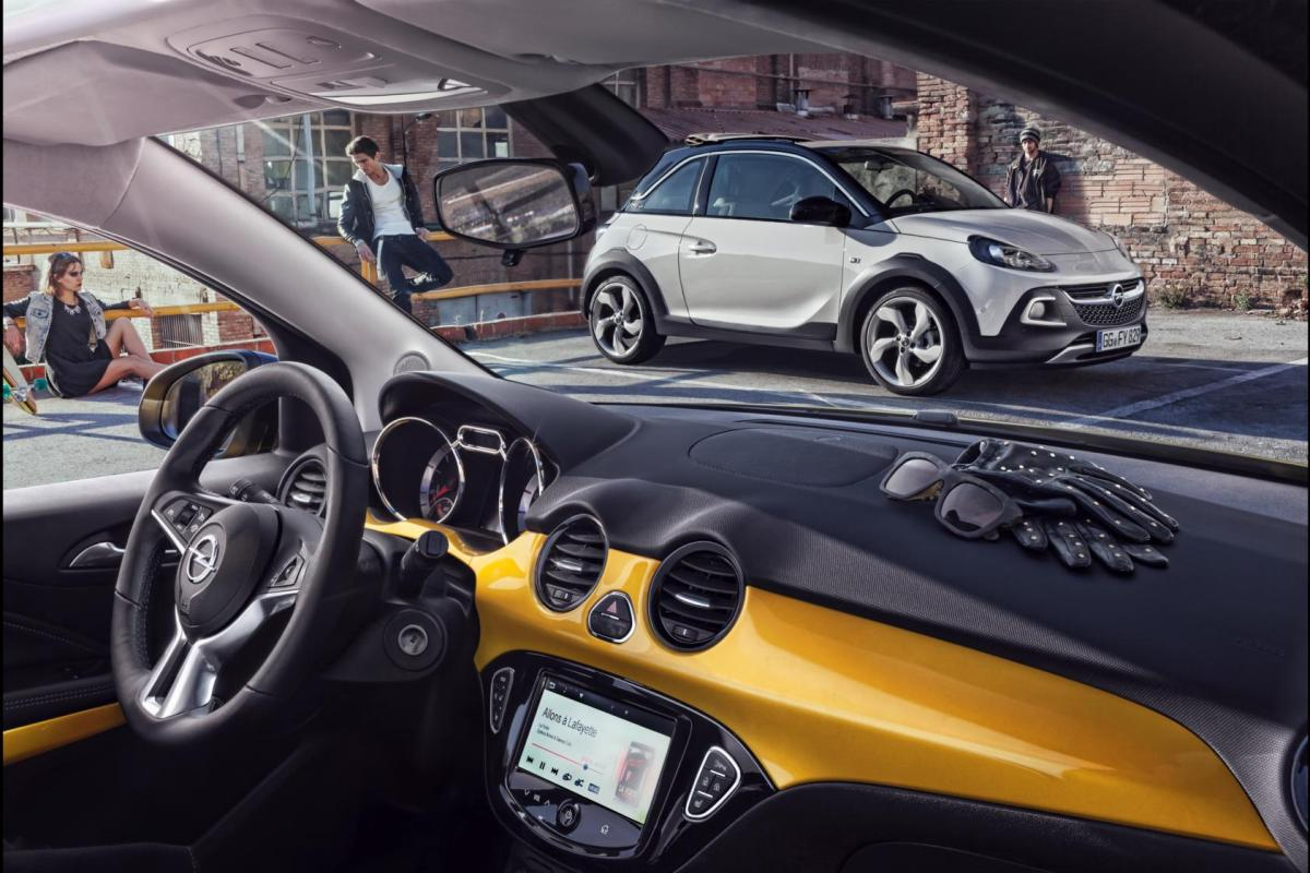 Opel Adam Rocks wit geel 2015 EDIT 1.0 Turbo 16