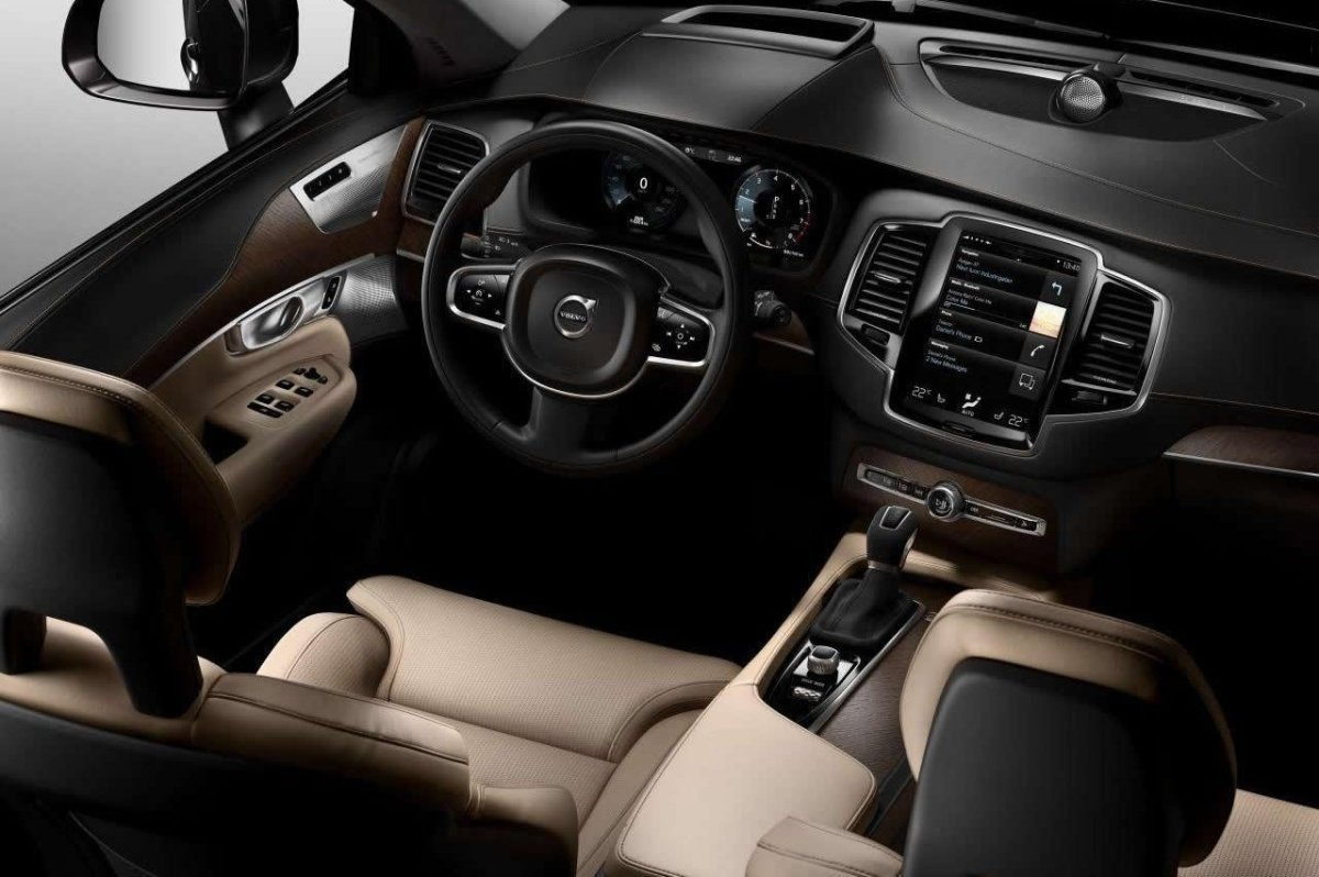 Volvo XC 90 First Edition D5 T6 AWD 1927 2015 brons zwart wit bruin 15