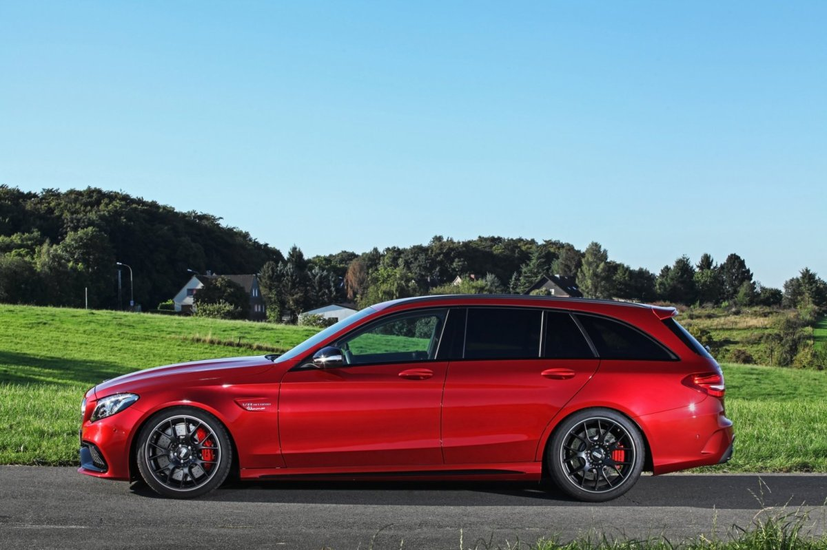 Wimmer Mercedes C63 S AMG rood 2015 08