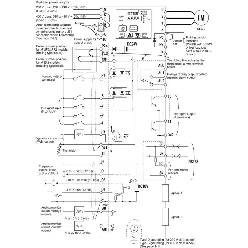 VFD SJ700-2200HFU2, AC Motor Drive
