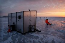 Minnesota Ice Fishing Fish House Pictures