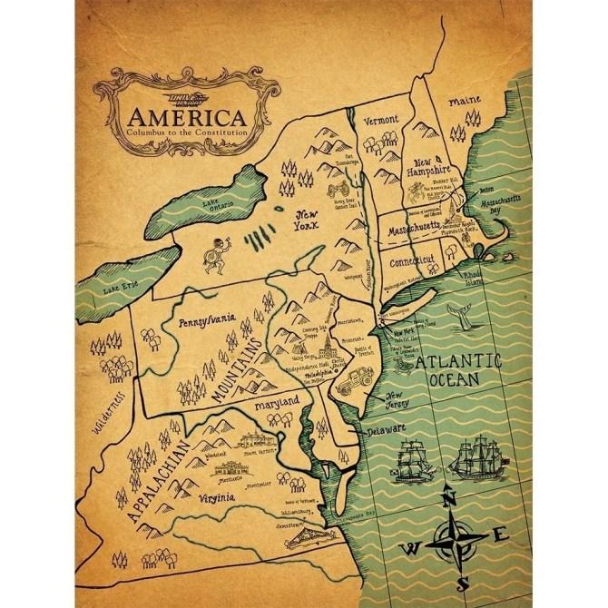 Colonial America Map Colonial America Map – Drive Thru History®