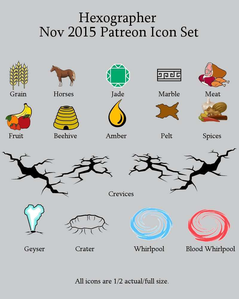 hight resolution of hexographer november 2015 monthly world map icons any editor inkwell ideas hex dun cityographer map icon packs drivethrurpg com