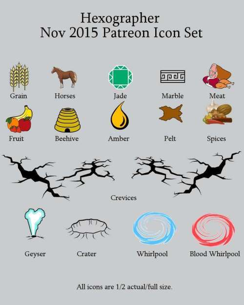 small resolution of hexographer november 2015 monthly world map icons any editor inkwell ideas hex dun cityographer map icon packs drivethrurpg com
