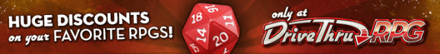 Huge Discounts on your Favorite RPGs @ DriveThruRPG.com