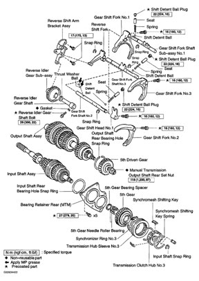 Toyota C59 Transmission illustrated parts drawings