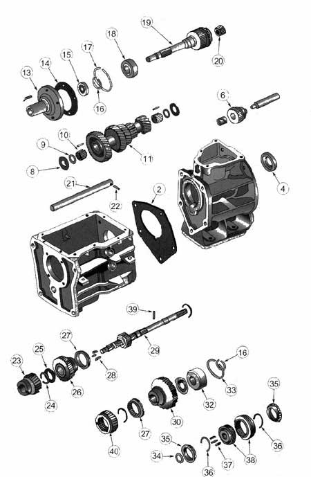 Jeep SR4 Transmission illustrated parts drawings assiting
