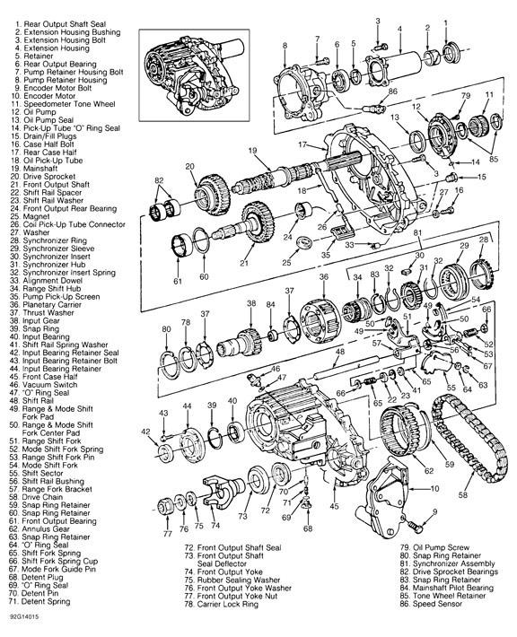 NP233 Transfer Case Rebuilk & Parts Illustration, you save