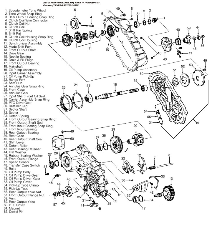BW4470 transfer case rebuild kits and parts, professional