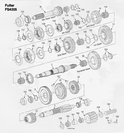 Fuller FS4205 Transmission illustrated parts drawings