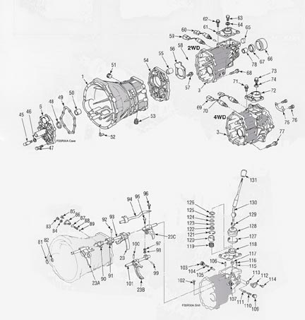 Nissan FS5R30A Transmission illustrated parts drawings