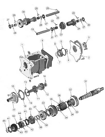 Jeep T176 Transmission illustrated parts drawings
