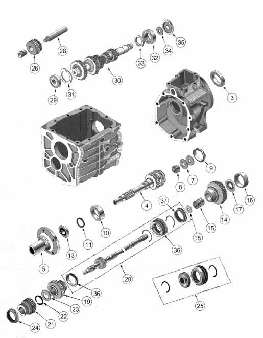 Borg Warner T4 and T4C 4 Speed Manual Transmission Parts