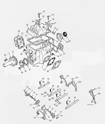 Dodge NP540, NP541 and NP542 Parts illustration Manual
