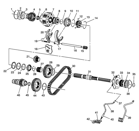 NV263 Transfer Case Rebuild Kit and Parts Illustration