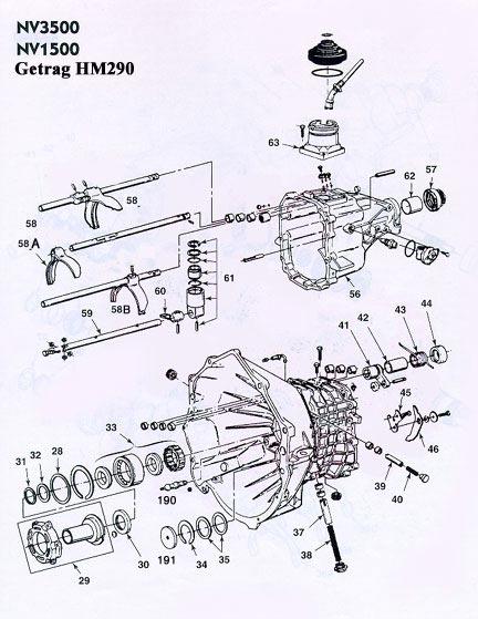 GM Getrag 290 NV3500 Transmission illustrated parts
