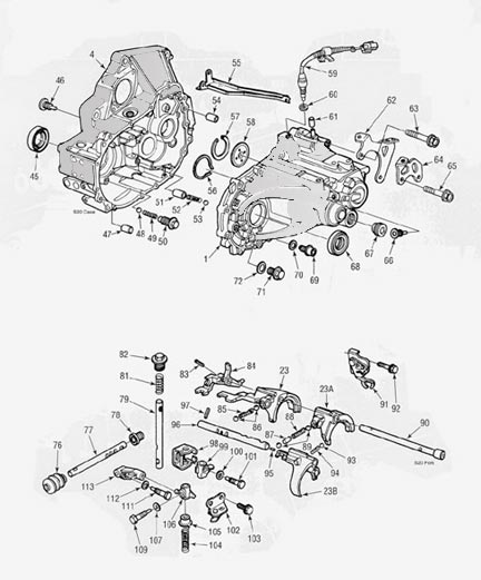 Honda S20 Transmission illustrated parts drawings assiting