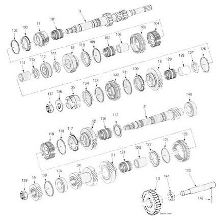 Saturn Manual Transmission illustrated parts drawings