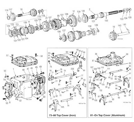 Toyota H42 Transmission illustrated parts drawing assiting