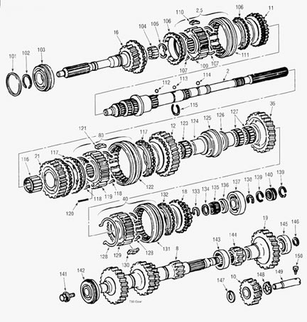 Toyota T50 Parts illustration Manual Transmission