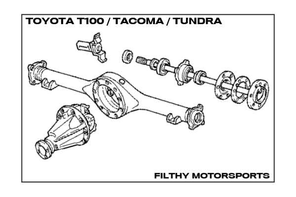 Snap 1998 toyota tacoma 4WD front wheel bearing