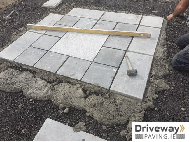 lay your patio step by step driveway