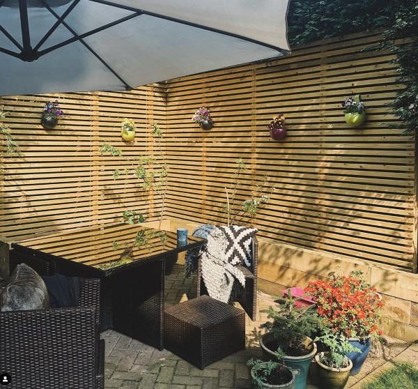 Modern Garden Wooden Fence