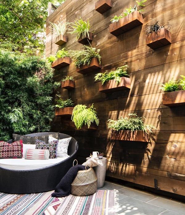 Wooden Wall Vertical Garden