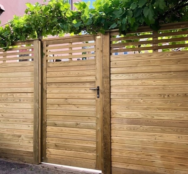 Wooden Fence Ideas Garden Door
