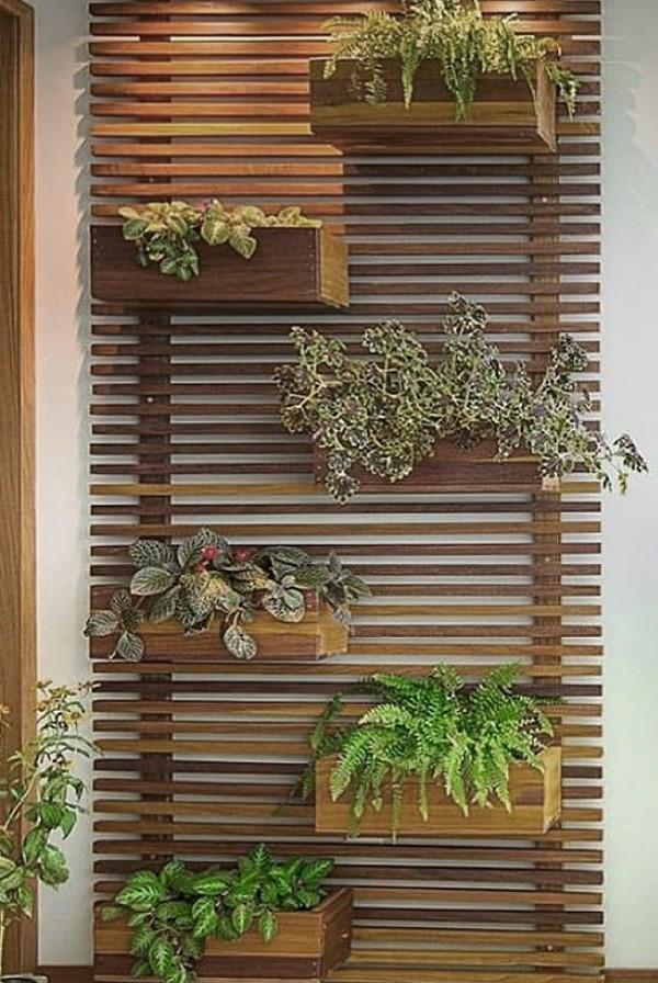 wooden vertical planters