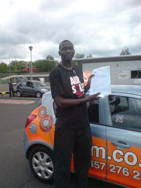 Henry passed first time