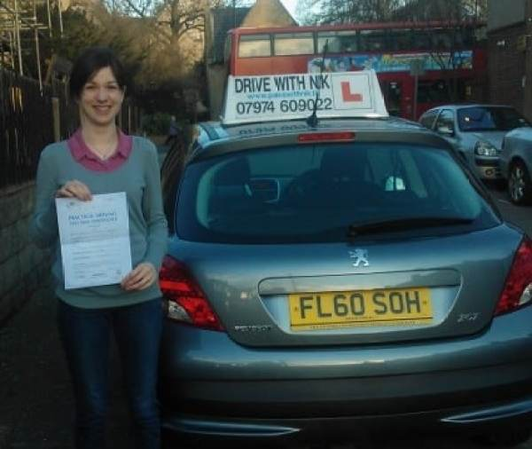 Jessica passed her driving test