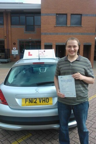 driving lessons - Semyon passed his practical driving test