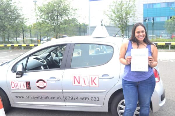 Amanda passed her driving test with Drive with Nik